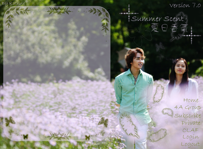 Xanga Layout Ver. 7 Summer Scent